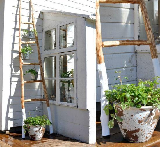 #Ladders #tuindecoratie