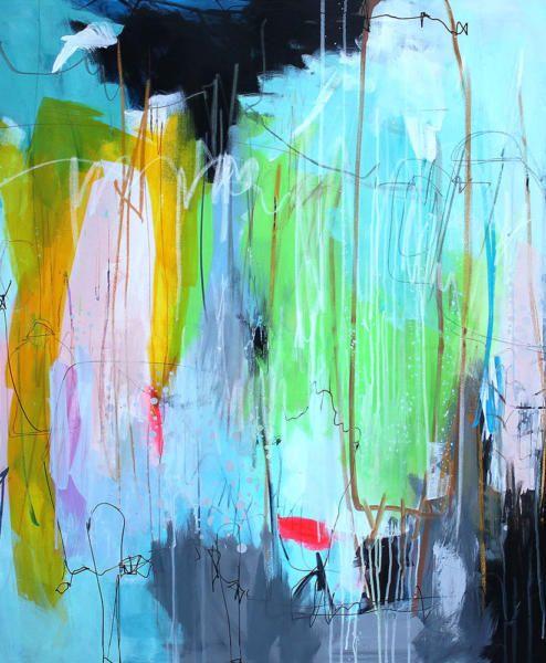 Kaffedate 120x90 Abstrakte Malerier Malerier Kunstnere