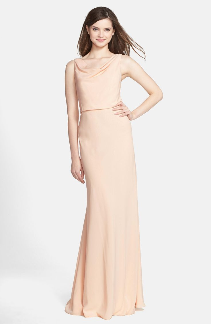 46 best k j bridesmaid dresses images on pinterest adrianna jenny yoo drape neck crpe de chine gown ombrellifo Gallery