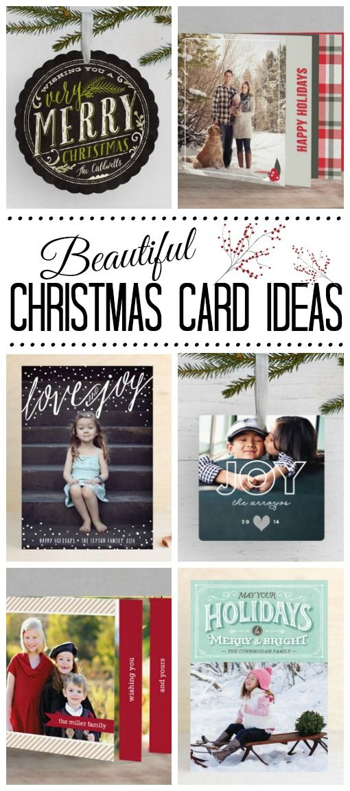 Beautiful Christmas card ideas to get you inspired and a free printable Christmas card planner to get you organized!
