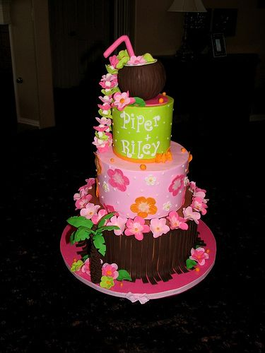 Tropical Baby Shower Cake