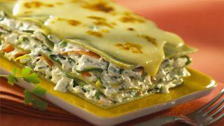 Vegetarische lasagnes met groentjes, zeer gemakkelijk