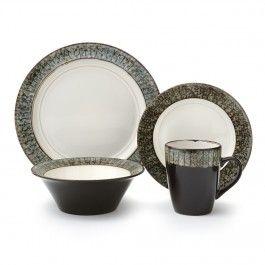 GRANITE BLUE dinnerware set, 16 pc (service for 4) #TABLEBYSTOKES