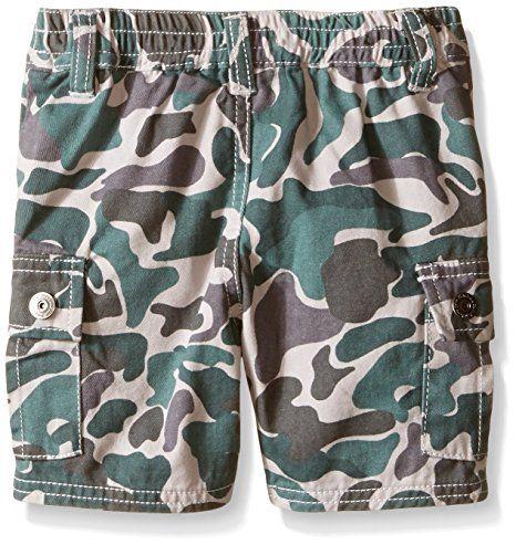Amazon.com: Calvin Klein Baby-Boys Jersey Polo Shirt and Camo Twill Shorts, Gray, 12 Months: Clothing