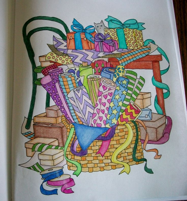 Done With Colored Pencils Color Me Cluttered Coloring Book