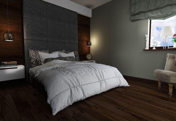 Wood bedroom with IKEA wardrobe on Behance