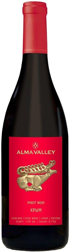 Вино Alma Valley Pinot Noir 2015, 0.75 л (купить Альма Валей Пино Нуар 2015, 750 мл) – цена, отзывы