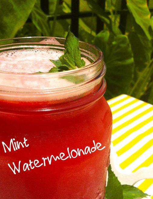 Mint Watermelonade #vegan #recipe #drinks  #summertime #veganism #yum #lemonade #delish #whatvegansdrink #watermelon #summer