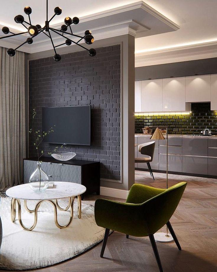 480 отметок «Нравится», 16 комментариев — Дизайн интерьера (@designroyal) в Instagram: «На фото часть гостиной и кухни Друзья, как вы относитесь в отсутствию дверей между этими…»