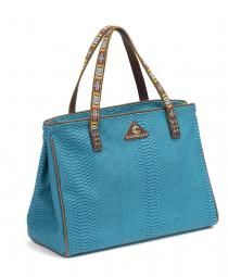 The Grande Tote, Indy turquoise-snakeskin-grande-tote-consuela-angled