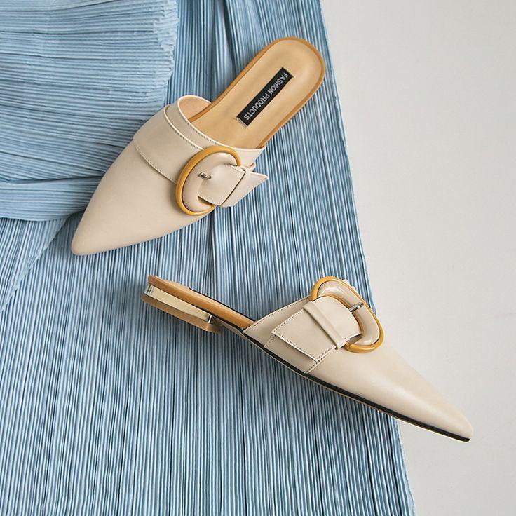 Chiko Roya Pointed Toe Block Heels Clogs Mules Zapatosoriginales Tacones Zapatos De Encaje Zapatos De Chicas