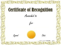 Sample Recognition Award  Achievement Award Wording