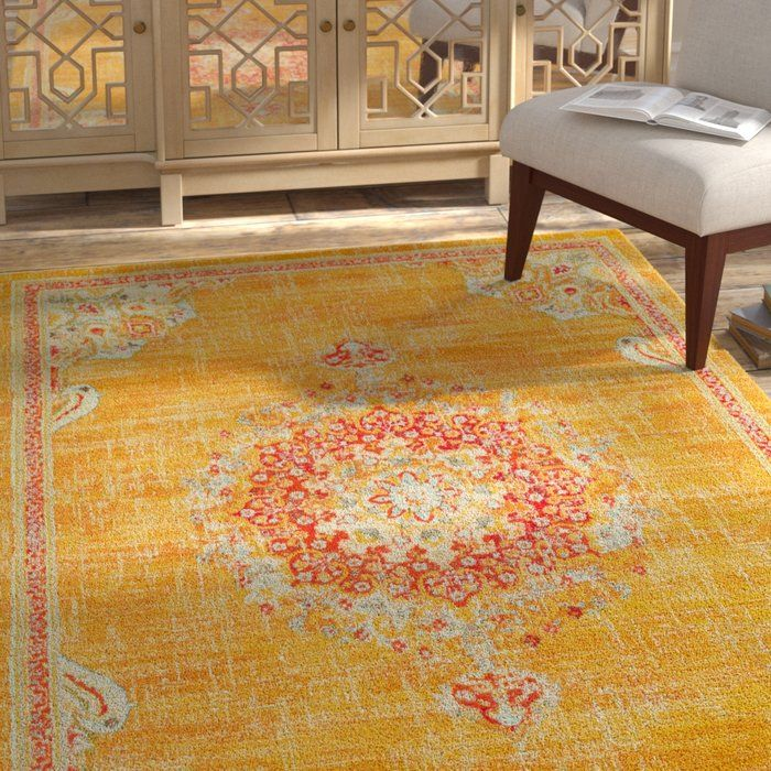Ernst Gold Red Area Rug Red Area Rug Area Rugs Yellow Area Rugs
