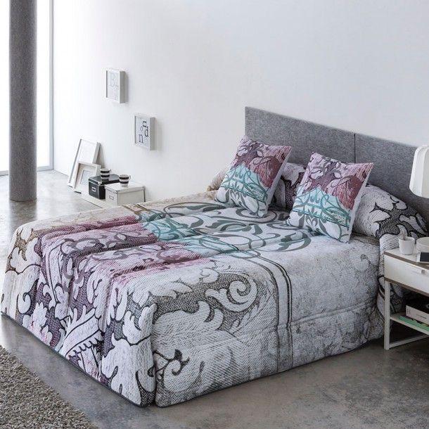Edredón Conforter ALASKA de la firma Sansa. Este nuevo diseño de la firma Sansa presenta un formado por un grande tribal y diferentes toques de color como son el fucsia o el turquesa.