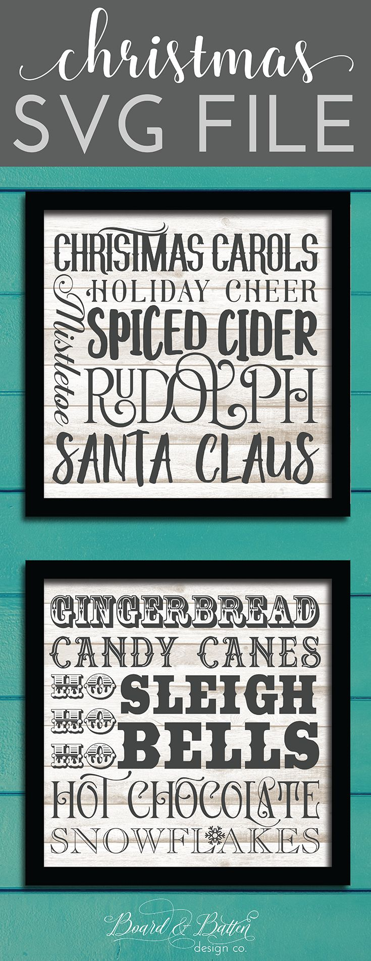 Looking for a design for a gorgeous Christmas statement piece to make with your Silhouette or Cricut? Look no further - this festive Christmas subway art SVG File is perfect for both tall wooden signs but best of all - you can split it into two squares and have a set of two smaller items. This design would be perfect on a long wooden sign, a set of throw pillows, festive Christmas t-shirts, and more!  All of my SVG files are fully tested and include a commercial use license.