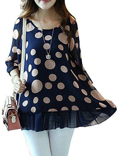 Casual Ruffles Polka Dot Chiffon T-Shirt For Women - http://bigboutique.tk/product/casual-ruffles-polka-dot-chiffon-t-shirt-for-women/