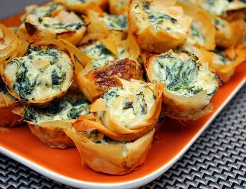 Appetizer Recipes for a Crowd RECIPES | Appetizer Idea: Spanakopita Bites - BRONZE BUDGET BRIDE - A network of ...