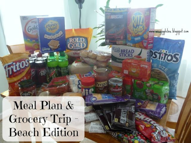 Meal Plan and Grocery Trip - Beach Edition - Gigglebox Tells it Like it is - www.wvugigglebox.blogspot.com