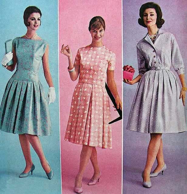 60s fashion -love the purple one =)