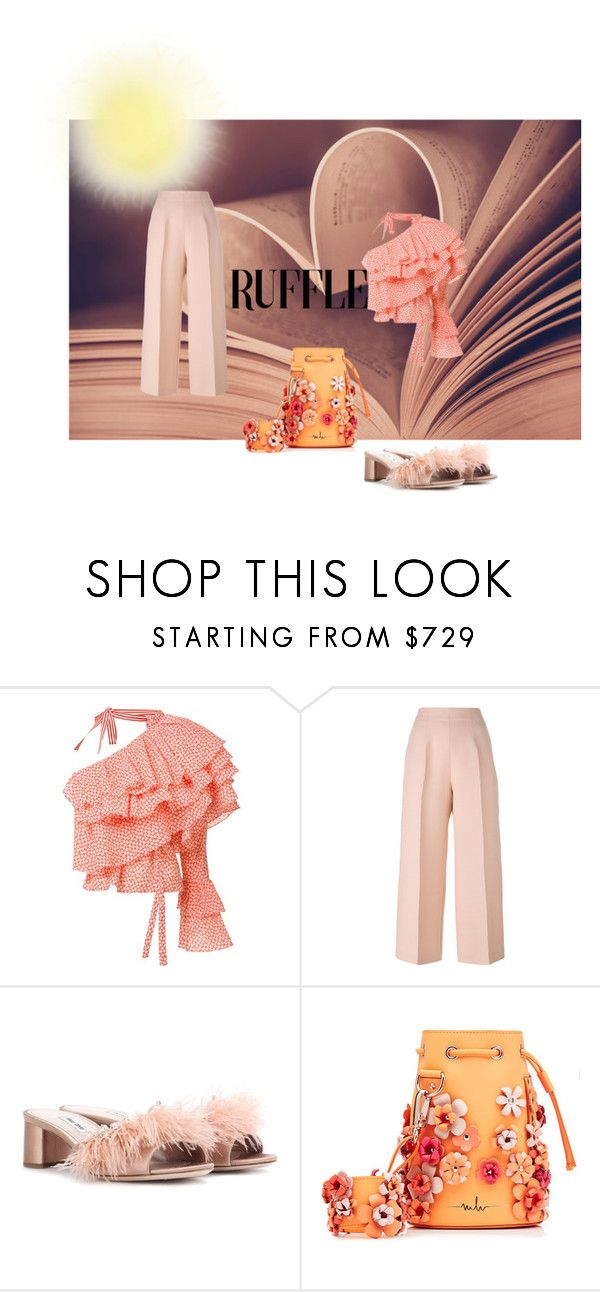 """""""Hot Outfit with Ruffles"""" by giannadelana ❤ liked on Polyvore featuring Rosie Assoulin, Fendi, Miu Miu and Marina Hoermanseder"""