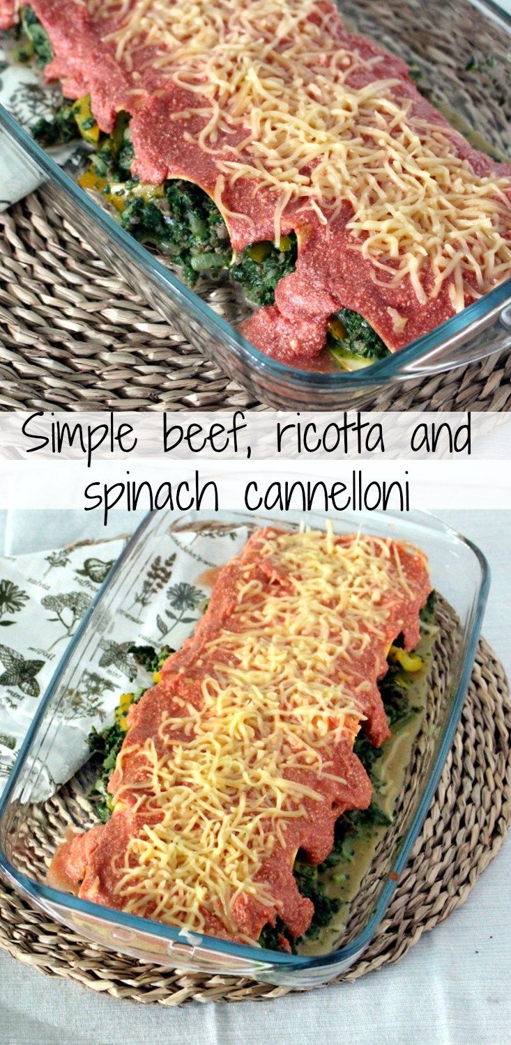 If you love good, honest and comforting food: this is the right site for you! Today I share a recipe for a delicious beef, spinach and ricotta cannelloni.