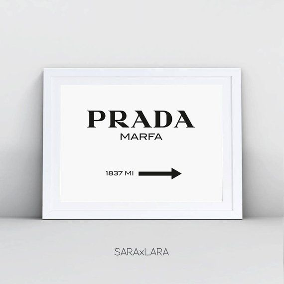 999f1e9c878a6 Prada Marfa Print - Texas Prada Wall Art, Digital Download, Prada ...