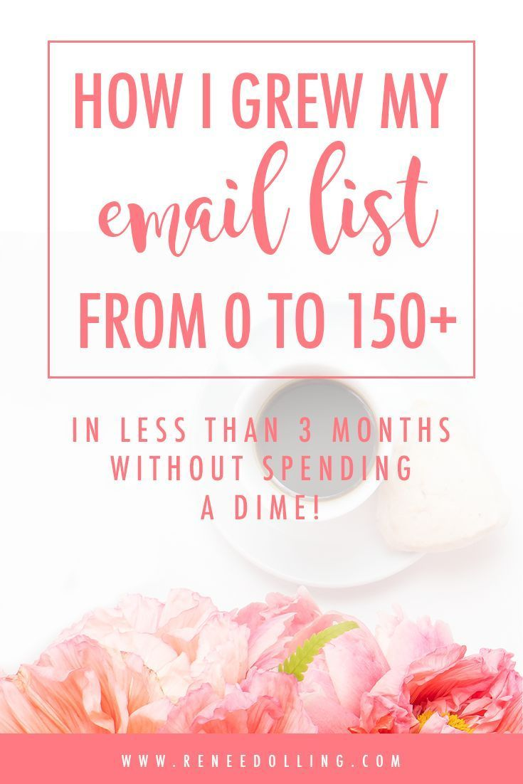 How to Grow an Email List Quickly.  How I Grew My Email List from Zero to 150+ in less than 3 months spending no money.  | Business Strategies | Renée Dolling | #emaillist, #growyourlist, #grow, #business, #tips, #businesshacking