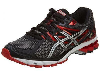 Asics Gt-10000 Gtx Mens T4L2N-7591 Storm Black Red Gore-Tex Running Shoes S 11.5