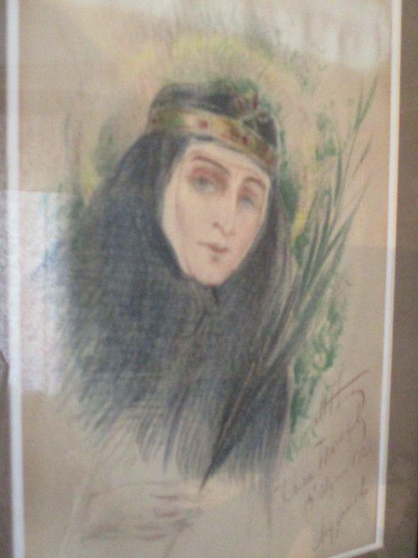 https://img-fotki.yandex.ru/get/196081/154633348.0/0_15a4f8_25425fe1_XL.jpg М.В.Нестеров. Великая княгиня Елизавета Федоровна. 1926. Бумага, цветные карандаши