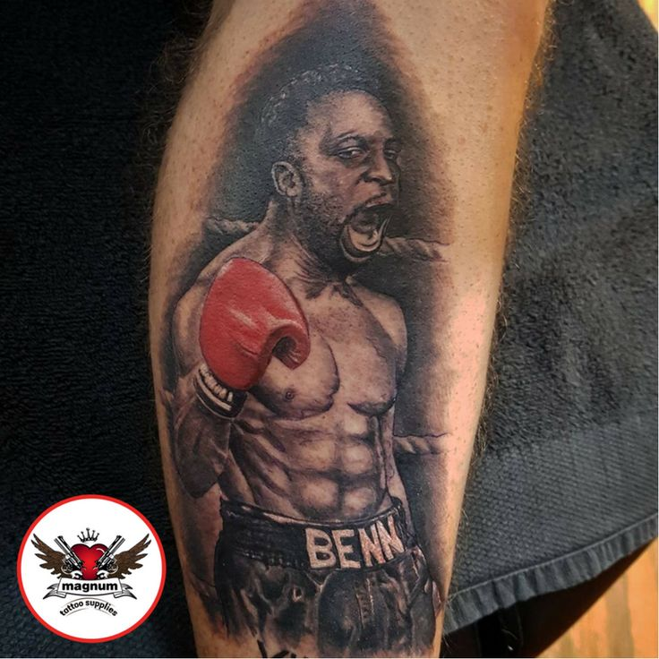 Nigel Benn piece using #magnumtattoosupplies done by Lord Nelson