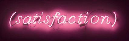 Joseph Kosuth, Satisfaction
