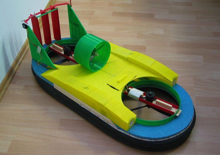 Hovercraft - Ferngesteuertes Vehikel aus dem 3D-Drucker
