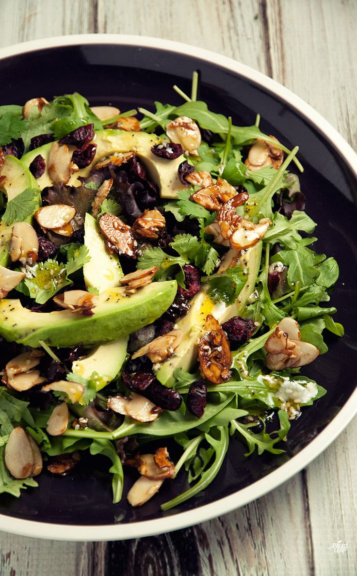 Cranberry Avocado Salad | Paleo Leap