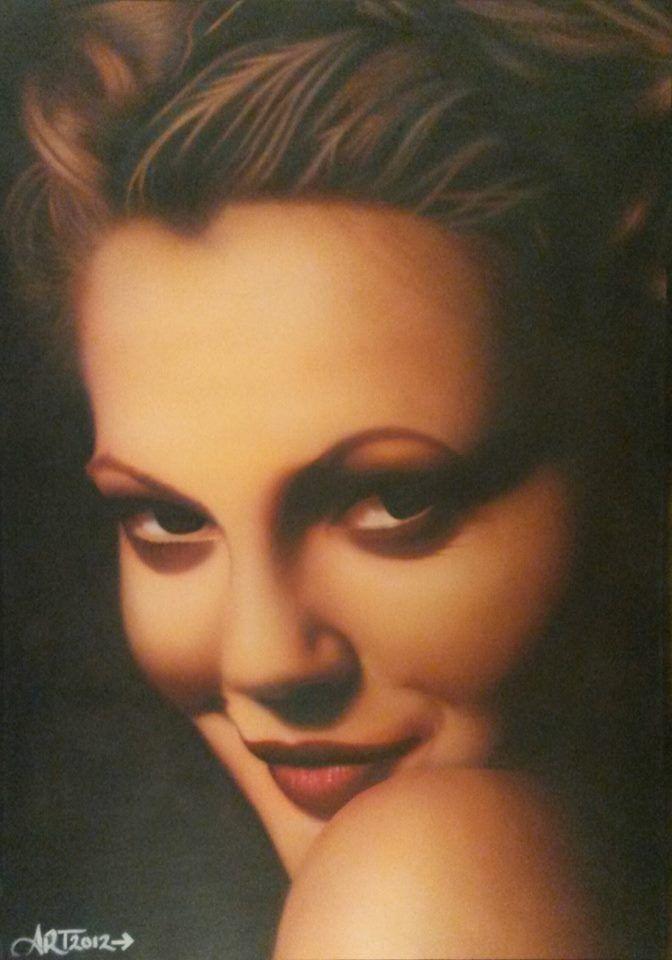 Airbrush Venturi Unit E Part.1 - Drew Barrymore Airbrushed by Allysha Taylor