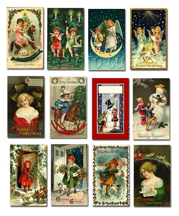 Victorian Christmas Tags | BuY OnE GeT OnE FREE -Victorian Christmas ViNtAgE ArT Hang/Gift TAgs ...