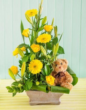 Singapore Flowers: New Baby Flower Arrangement!