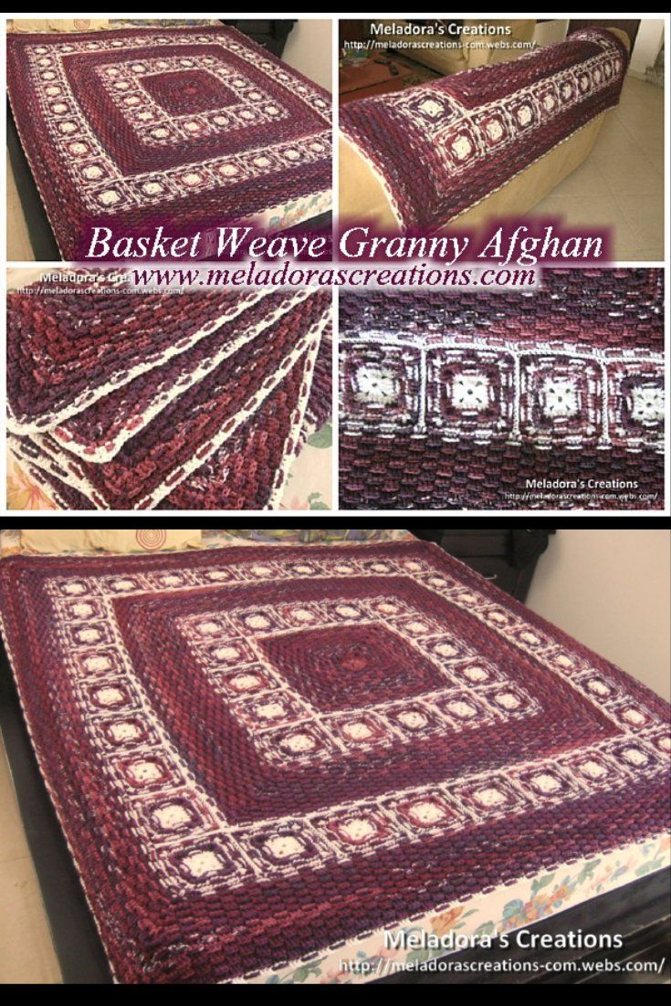 Basket Weave Granny Afghan – Free Crochet Pattern and video tutorials by Meladora's Creations