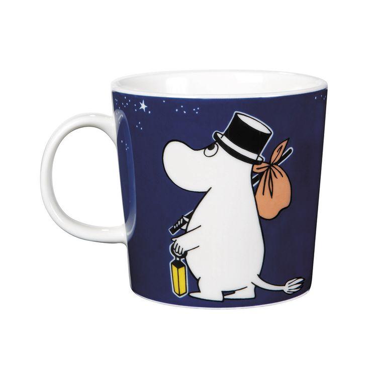 Moomin Mug Moominpappa,  Dark Blue, 43