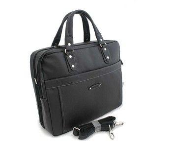 """Černá taška-aktovka Hexagona na zip. Dvě hlavní přihrádky na zip, dále kapsa na 13"""" notebook, kapsy na drobnosti. Zepředu kapsa na zip, zezadu kapsa na zip. Odepínací nastavitelný popruh. Materiál - technická kůže."""
