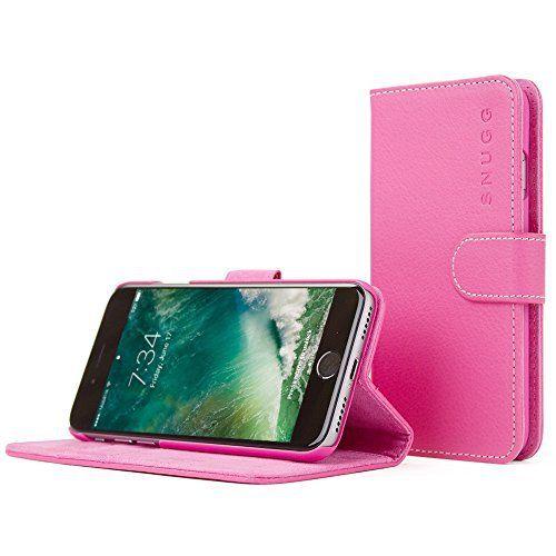 英国Snugg Legacyシリーズ iPhone 7用 PUレザー 手帳型 ケース カバー ホットピンク
