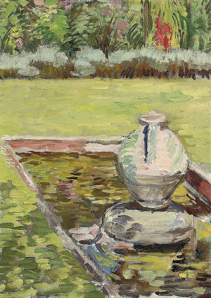 ✦ vanessa bell - 'the goldfish pond, charleston' - 1939 - christie's