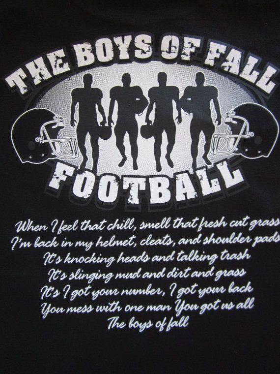 Unisex The Boys of Fall Football TShirt Available by Blingitonme, $19.95