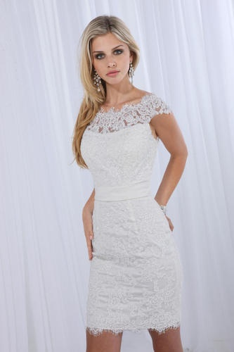 Short white lace dress - rehearsal dress? maybe too fancy.  Too expensive for me.