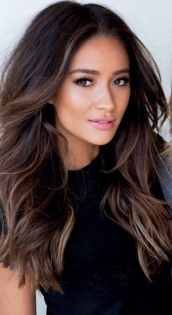 dark brunette hair ideas