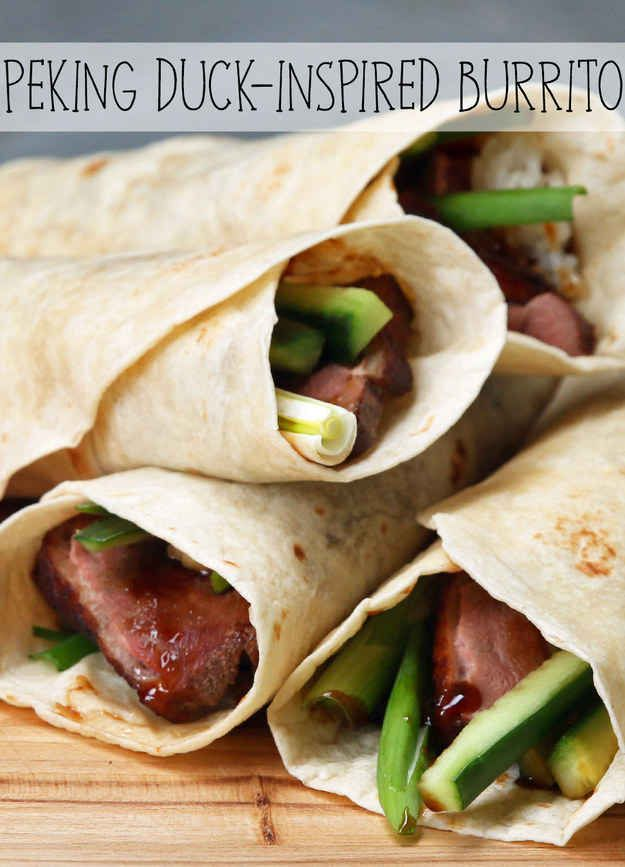 Enter A New Flavor Town With These Peking Duck-Inspired Burritos