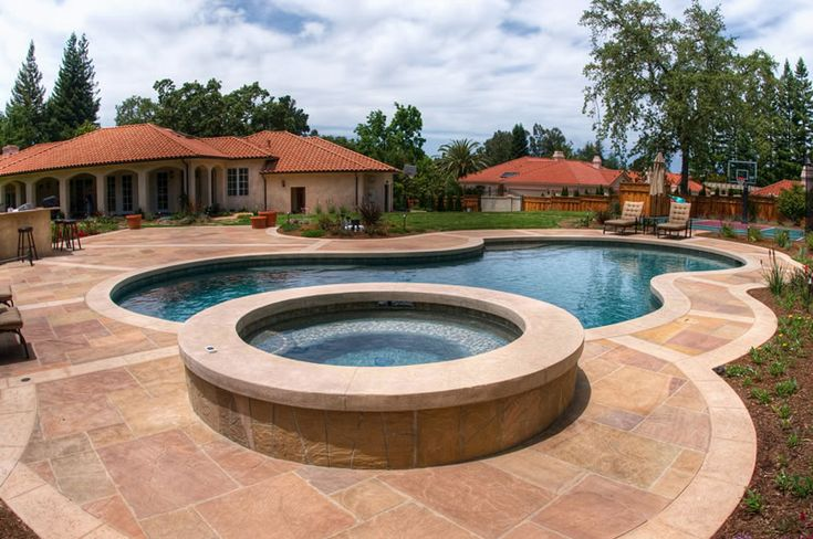 26 best pool decking images on pinterest pools backyard ideas and decks for Swimming pool contractors san francisco bay area