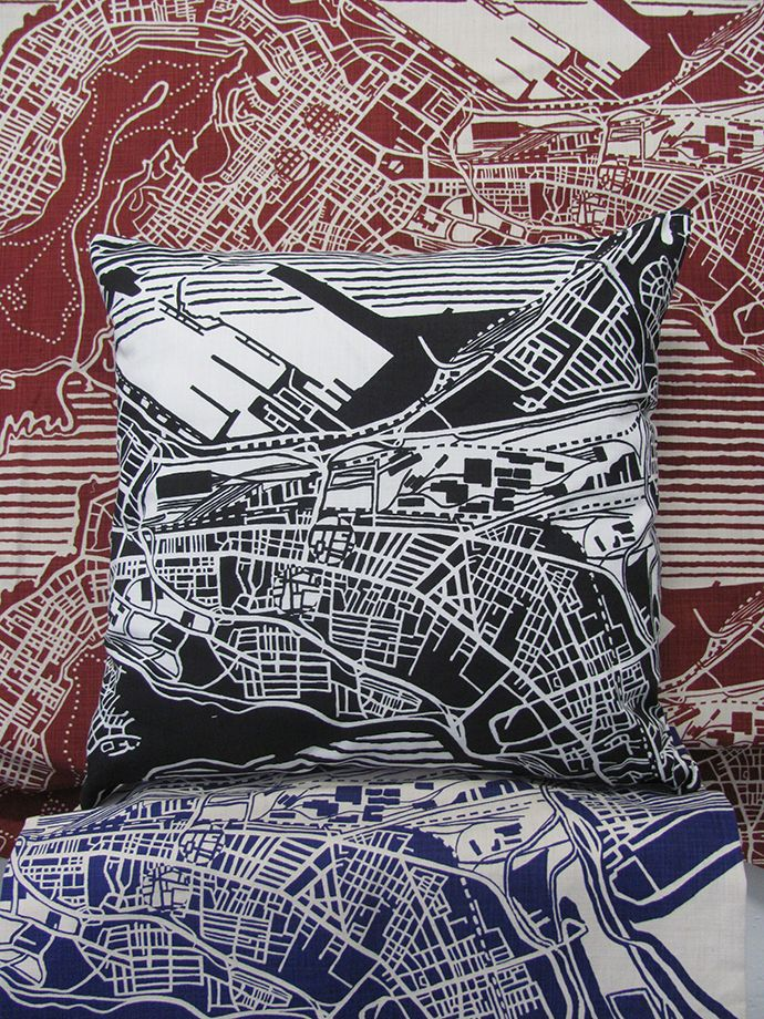 The smart designers at FabricNation have produced a new fabric design called Cape Town Weave. A celebration of Cape Town as World Design Capital 2014, the design, made up of interconnecting, weaving roads and manmade structures is based on a street map of the city centre.