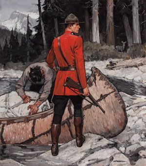 Arnold Friberg is the preeminent Mountie illustrator