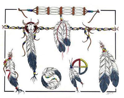 Navajo Tattoo feathers bottom right