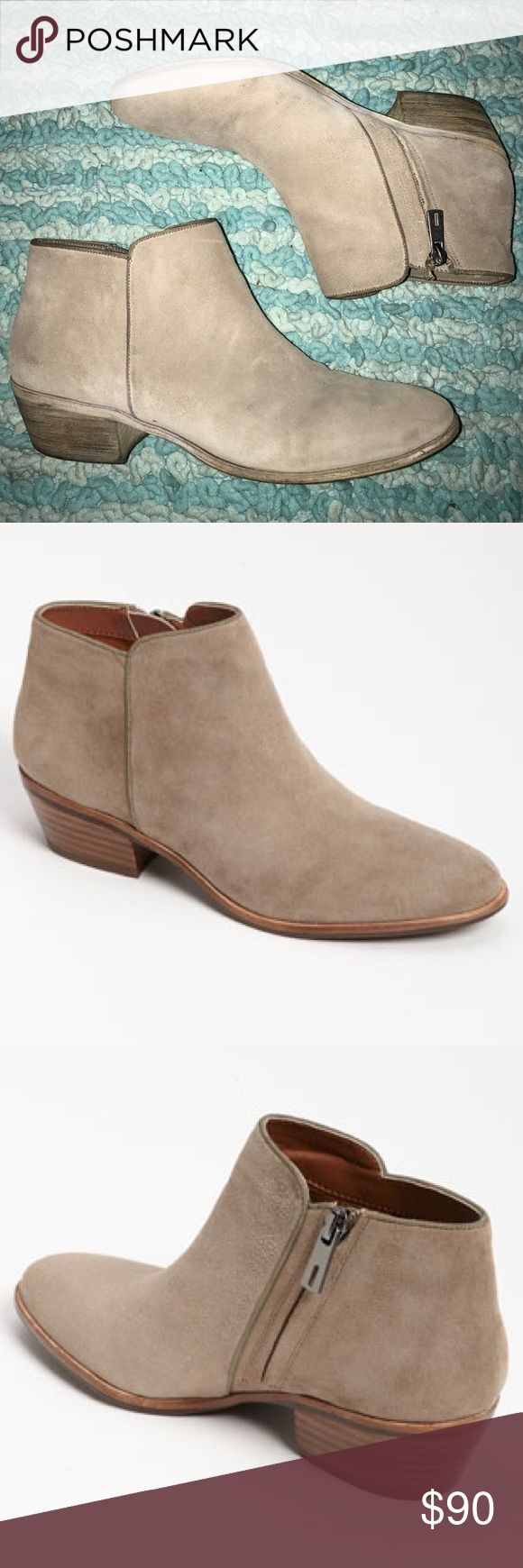 """Sam Edelman """"Petty"""" Chelsea Boot Leather Sam Edelman Chelsea boots. Texture is suede, color is a nude/taupe. In very good condition, just not my style. Super cute with a romper for summer. Sam Edelman Shoes Ankle Boots & Booties"""